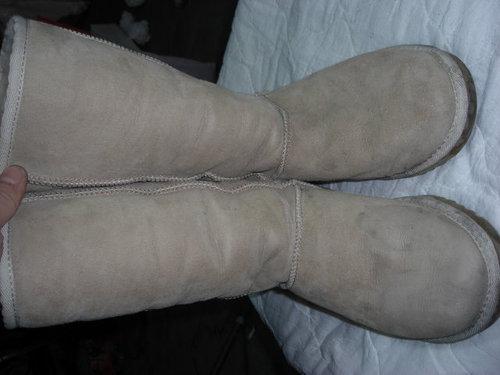 UGG雪靴 清洗過程 @ 千葉皮革美 ...