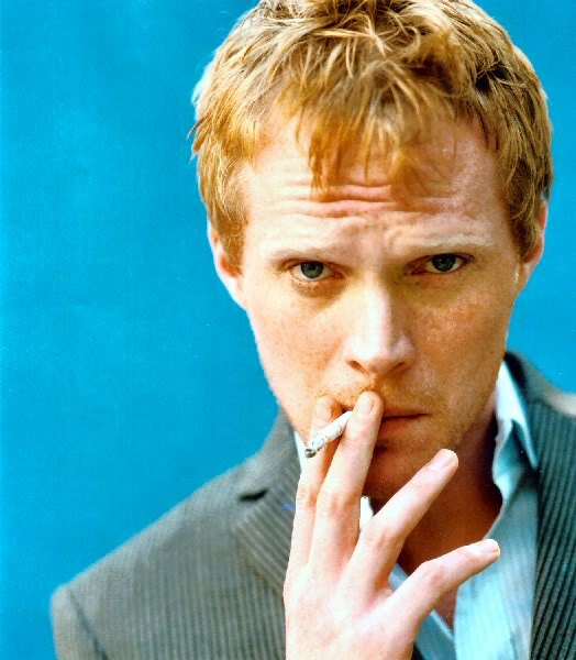 Paul Bettany smoking a cigarette (or weed)