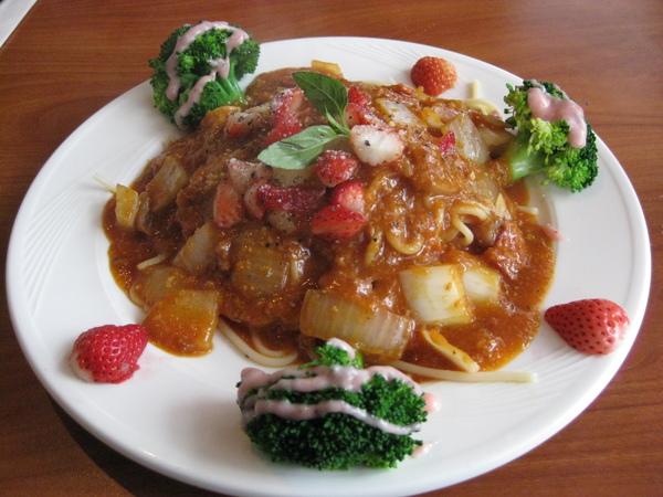 草莓義大利麵