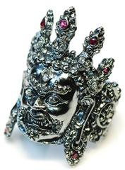 硫化處理作業-瑪哈噶拉(梵名Mahakala)戒指