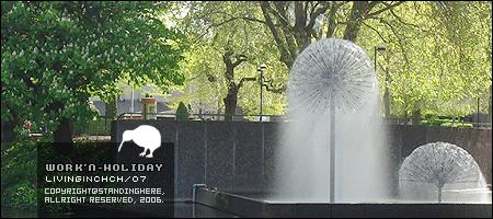 維多利亞廣場旁的噴泉,美的呢!