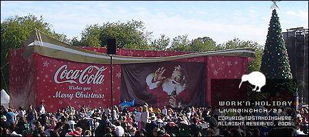 可口可樂公司舉辦的大型聖誕晚會