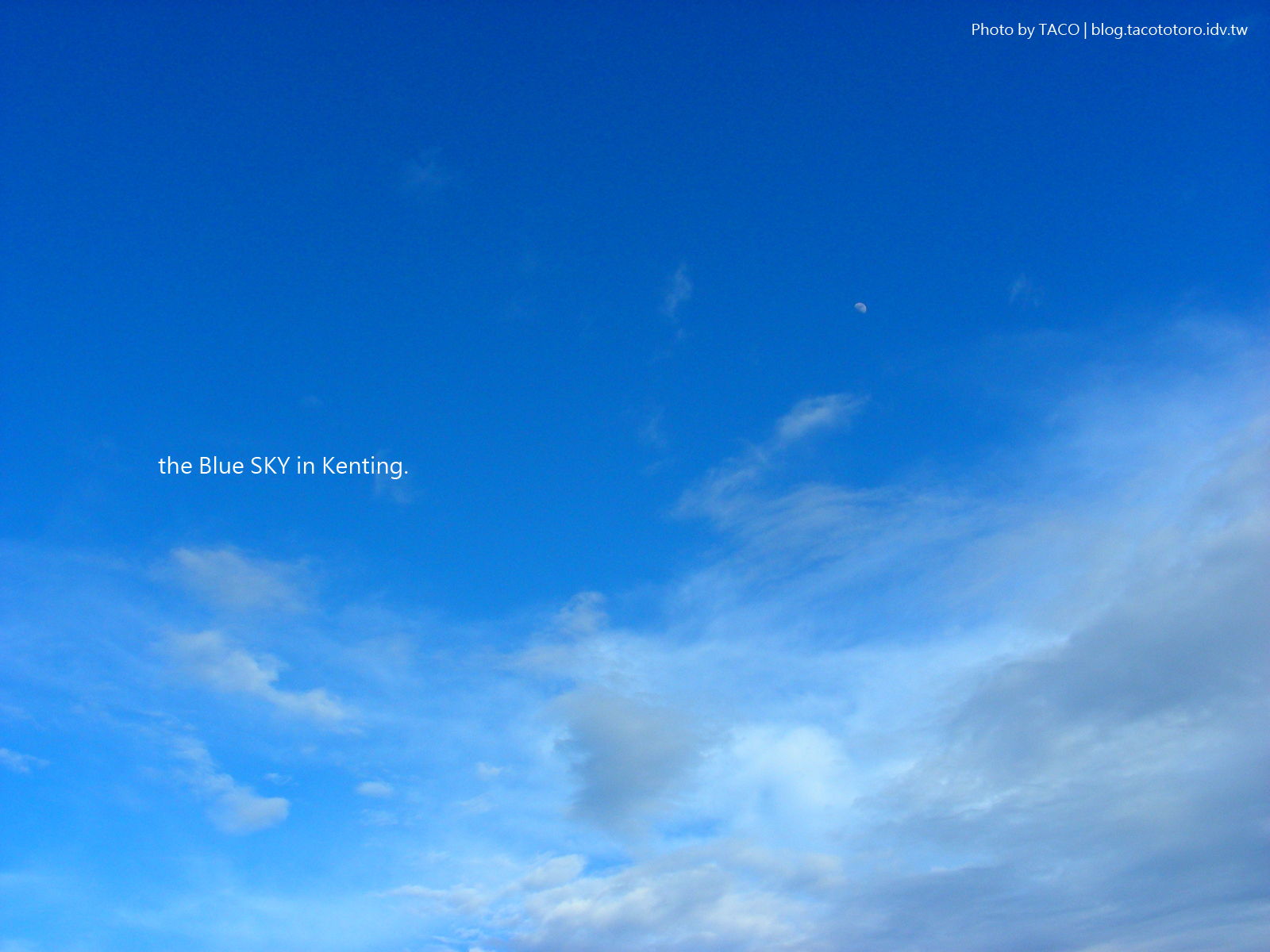 桌布 純藍天空。pure blue sky。